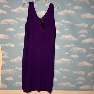 NWT-Lane Bryant Purple Knit Sleeveless Dress 14/16